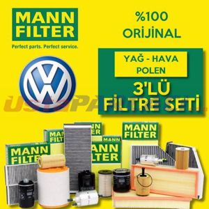 Vw Golf 4 1.6 Mann-filter Filtre Bakım Seti (1998-2006) UP463663 MANN