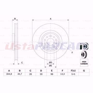 Fiat 500l 1.6 D Multijet 2012-2020 Bosch Ön Fren Diski 2 Adet UP1571306 BOSCH