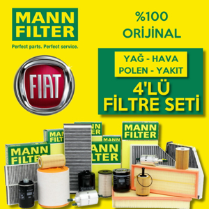 Fiat Albea 1.6 Mann-filter Filtre Bakım Seti 2002-2008 UP1320010 MANN