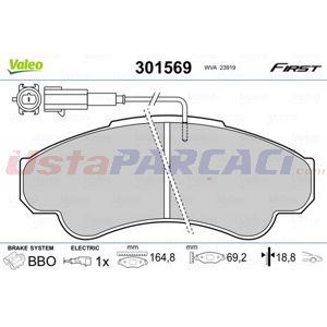 Fiat Ducato 180 Multijet 2,3 D 2006-2014 Valeo Ön Fren Balatası UP1440512 VALEO