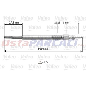 Fiat Panda 1.3 D Multijet 2003-2013 Valeo Kızdırma Bujisi UP1456609 VALEO