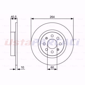 Fiat Punto 1.4 Natural Power 2012-2020 Bosch Arka Fren Diski 2 Adet UP1604961 BOSCH