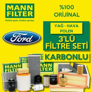 Ford Fiesta 1.25 1.4 1.6 Benzinli Mann Filtre Seti 2009-2017 UP1539500 MANN