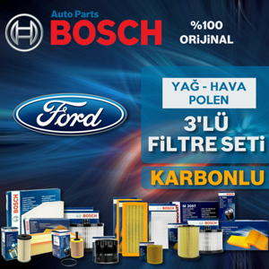 Ford Focus 1.5 Tdci Bosch Filtre Bakım Seti 2015-2017 UP1539715 BOSCH