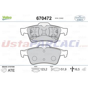 Ford Focus Ii 2.5 St 2004-2012 Valeo Arka Fren Balatası UP1451894 VALEO