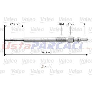 Ford Ka 1.3 Tdci 2008-2020 Valeo Kızdırma Bujisi UP1502661 VALEO