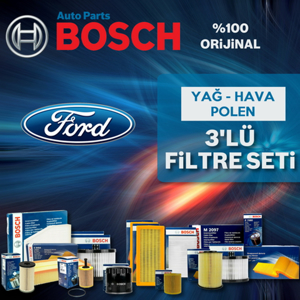 Ford Mondeo 2.0 Tdci Bosch Filtre Bakım Seti 2007-2010 UP1312977 BOSCH