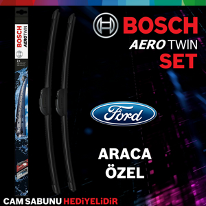 Ford Tourneo Connect Ön Arka Silecek 2014-2017 Bosch Aerotwin UP1539378 BOSCH