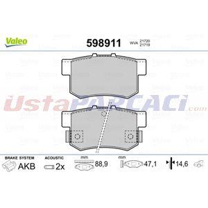 Honda Accord Viii 2.4 I 2008-2015 Valeo Arka Fren Balatası UP1413165 VALEO