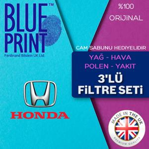 Honda Civic 1.6 Fb7 Blueprint Filtre Bakım Seti (2013-2016) UP561503 BLUEPRINT