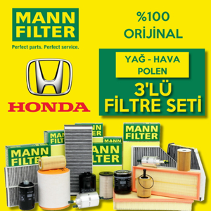 Honda Civic 1.6 Fb7 Mann-filter Filtre Bakım Seti (2013-2016) UP463696 MANN