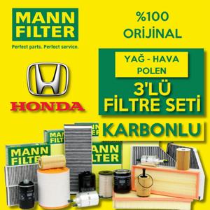 Honda Civic 1.6 Fd6 Mann-filter Karbonlu Filtre Bakım Seti (2007-2012) UP560431 MANN