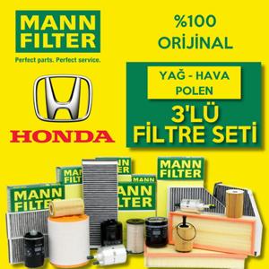 Honda Civic 1.6 V-tec Mann-filter Filtre Bakım Seti 2001-2006 UP1531151 MANN
