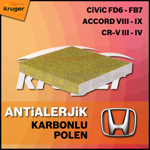 Honda Civic Fd6 Fb7 Accord Viii - Ix Cr-v Iii - Iv Antialerjik Karbonlu Polen Filtresi UP1531150 BOSCH