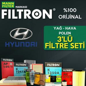 Hyundai Accent Admire 1.6 Filtron Filtre Bakım Seti 2003-2006 UP1319684 FILTRON