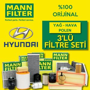 Hyundai Accent Era 1.5 Crdı Mann-filter Filtre Bakım Seti (2006-2012) UP468521 MANN
