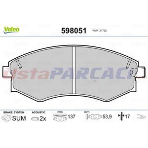 Hyundai Elantra 1.8 2000-2006 Valeo Ön Fren Balatası UP1462061 VALEO