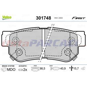 Hyundai Elantra 2.0 2000-2006 Valeo Arka Fren Balatası UP1505050 VALEO