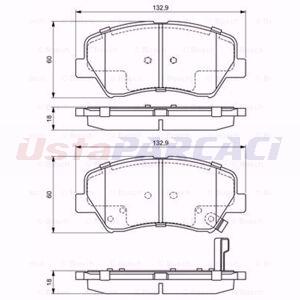 Hyundai Elantra Sedan 1.6 2011-2015 Bosch Ön Fren Balatası UP1620015 BOSCH
