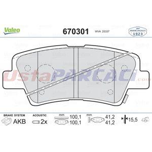 Hyundai Elantra Sedan 2.0 2015-2020 Valeo Arka Fren Balatası UP1528479 VALEO