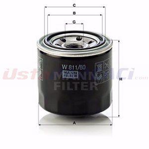 Hyundai I20 1.4 2008-2015 Mann Yağ Filtresi UP1400814 MANN