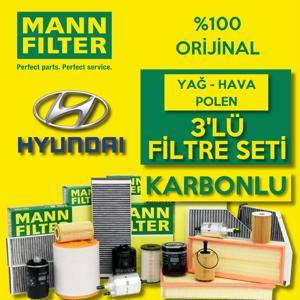 Hyundai İ30 1.6 Crdı Mann-filter Filtre Bakım Seti (2012-2016) UP1632553 MANN