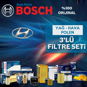 Hyundai Tucson 2.0 Crdi Bosch Filtre Bakım Seti 2005-2009 UP1313051 BOSCH