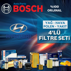 Hyundai Tucson 2.0 Crdi Bosch Filtre Bakım Seti 2005-2009 UP582638 BOSCH