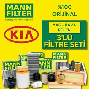 Kia Sorento 2.5 Crdı Mann-filter Filtre Bakım Seti (2003-2006) 140hp UP468515 MANN