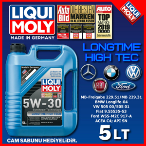 Longtime High Tech 5w30 Motor Yağı 5 Lt. Üt.07/2019 UP1127768 LIQUI MOLY
