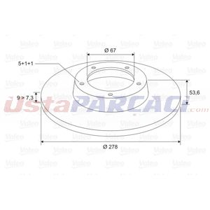 Mercedes-benz C-serisi C 180 2000-2007 Valeo Arka Fren Diski UP1459614 VALEO