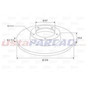 Mercedes-benz C-serisi Coupe C 180 Kompressor 2001-2008 Valeo Arka Fren Diski UP1440045 VALEO