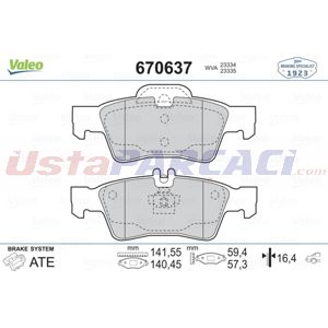 Mercedes-benz Cls Cls 350 D 4-matic 2011-2020 Valeo Arka Fren Balatası UP1513528 VALEO