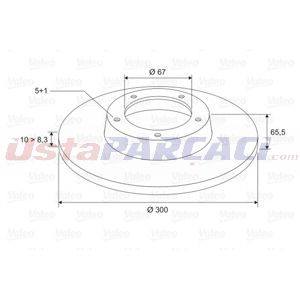 Mercedes-benz E-serisi E 250 2009-2015 Valeo Arka Fren Diski UP1433125 VALEO