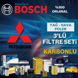 Mitsubishi Lancer 1.6 Bosch Filtre Bakım Seti 2010-2015 UP582535 BOSCH