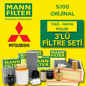 Mitsubishi Lancer 1.6 Mann-filter Filtre Bakım Seti 2010-2015 UP1319683 MANN