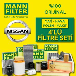 Nissan Juke 1.5 Dci Mann-filter Filtre Bakım Seti 2014-2019 UP1128607 MANN