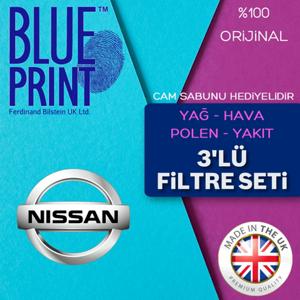Nissan Juke 1.6 Blueprint Filtre Bakım Seti 2011 - 2018 UP568013 BLUEPRINT