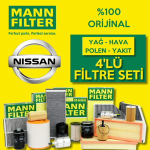Nissan Qashqai 1.5 Dcı Mann-filter Filtre Bakım Seti (2014-2017) UP468478 MANN