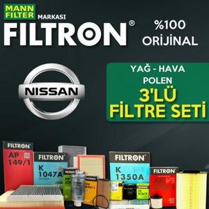Nissan Qashqai 1.6 Dci Filtron Filtre Bakım Seti 2014-2017 UP561019 FILTRON