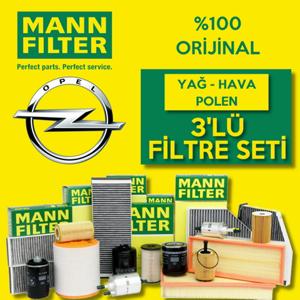 Opel Astra G 1.6i Twinport Mann-filter Filtre Bakım Seti 2004-2009 UP1320107 MANN