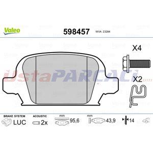 Opel Corsa C 1.7 Dti 16v 2000-2012 Valeo Ön Fren Balatası UP1502805 VALEO