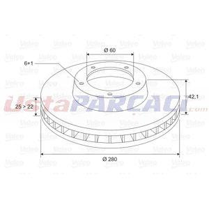 Opel Meriva A 1.3 Cdti 2003-2010 Valeo Arka Fren Diski UP1415146 VALEO