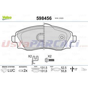 Opel Meriva A 1.4 16v Twinport 2003-2010 Valeo Ön Fren Balatası UP1410753 VALEO