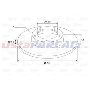 Opel Meriva A 1.6 Turbo 2003-2010 Valeo Arka Fren Diski UP1451098 VALEO