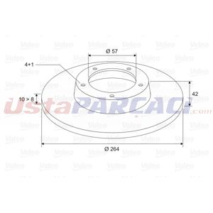Opel Meriva A 1.7 Cdti 2003-2010 Valeo Arka Fren Diski UP1528466 VALEO