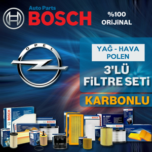 Opel Mokka 1.4 Bosch Filtre Bakım Seti (2012-2016) UP582272 BOSCH