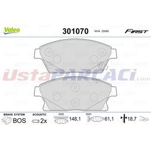 Opel Mokka 1.7 Cdti 2012-2020 Valeo Ön Fren Balatası UP1498710 VALEO
