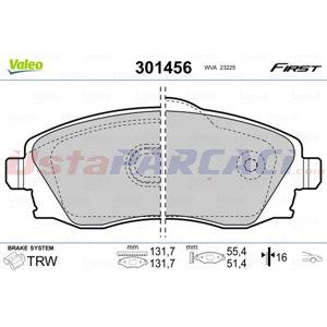 Opel Tigra Twintop 1.3 Cdti 2004-2010 Valeo Ön Fren Balatası UP1407744 VALEO