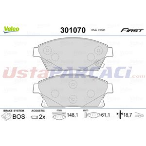 Opel Zafira Tourer 2.0 Biturbo Cdti 2011-2020 Valeo Ön Fren Balatası UP1503989 VALEO